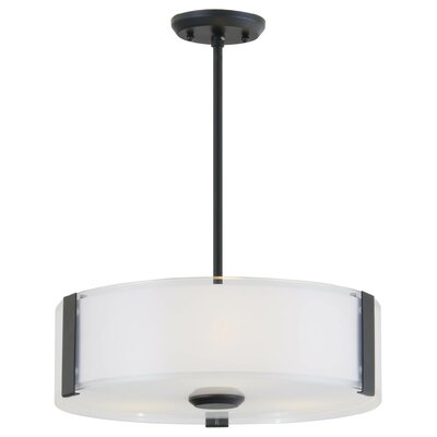 Zurich 3-Light Drum Pendant Finish: Graphite