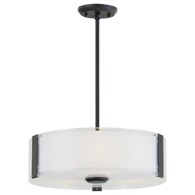 Zurich 3-Light Drum Pendant Finish: Chrome