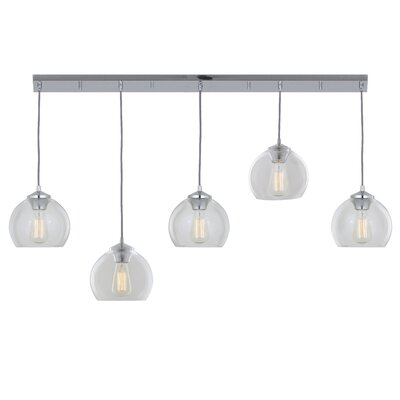 Oberon 5-Light Globe Pendant Finish: Chrome
