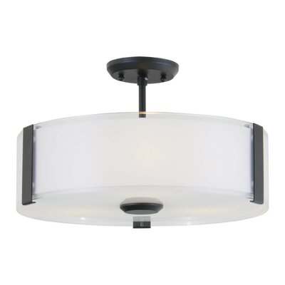 Zurich 3-Light Semi Flush Mount Finish: Graphite
