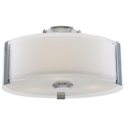 Zurich 3-Light Flush Mount Finish: Chrome