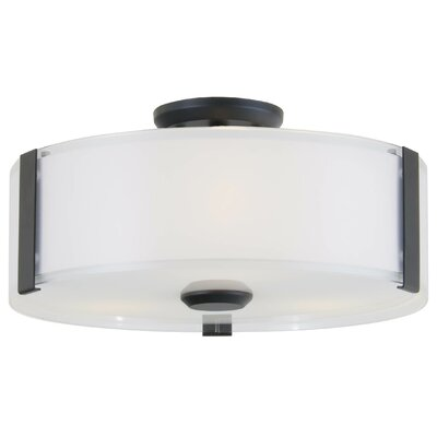 Zurich 3-Light Flush Mount Finish: Graphite