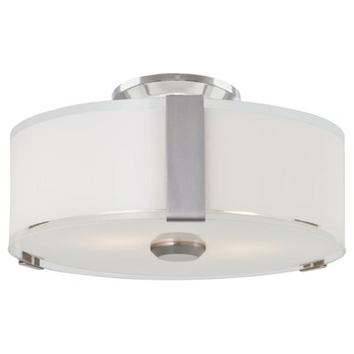 Zurich 3-Light Flush Mount Finish: Satin Nickel