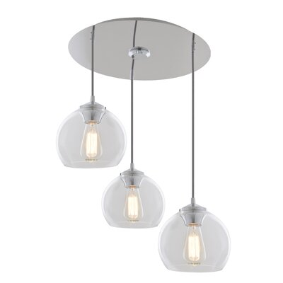 Oberon 3-Light Pendant Finish: Chrome