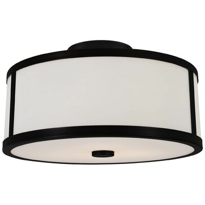 Uptown 3-Light Semi Flush Mount Finish: Graphite
