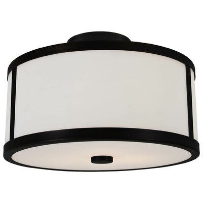 Uptown 2-Light Semi Flush Mount Finish: Chrome