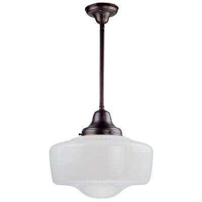 1-Light Schoolhouse Pendant Finish: Satin Nickel
