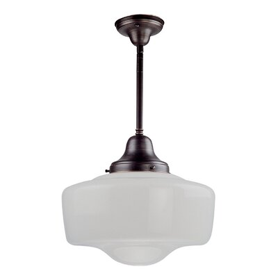 1-Light Schoolhouse Pendant Finish: Oil Rubbed Bronze