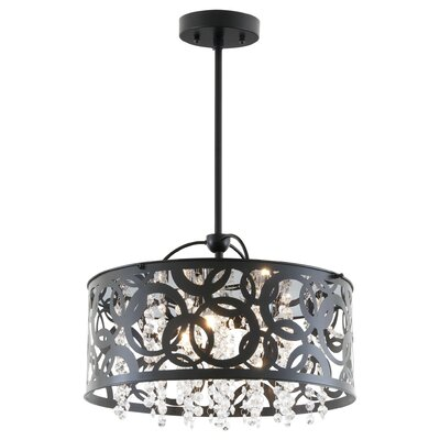 Woodstock 3-Light Drum Pendant Finish: Chrome