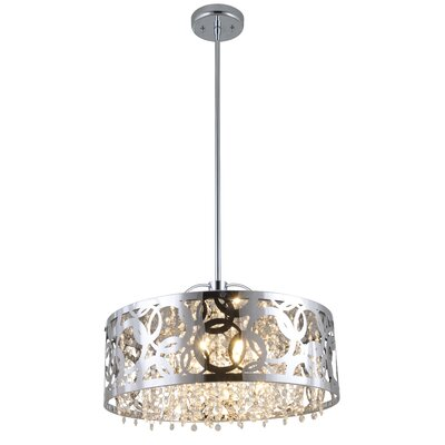 Woodstock 6-Light Drum Pendant Finish: Chrome