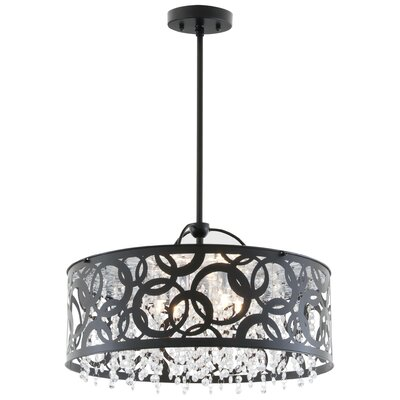 Woodstock 6-Light Drum Pendant Finish: Ebony