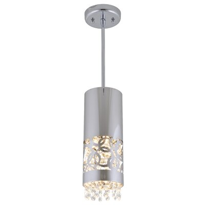 Woodstock 1-Light Mini Pendant Finish: Chrome