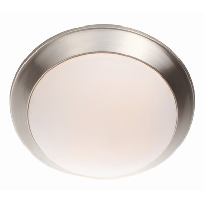 Valletta 1-Light Flush Mount Finish: Satin Nickel