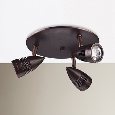 Bullet 12.5 3-Light Spot Light Finish: Oil Rubbed Bronze