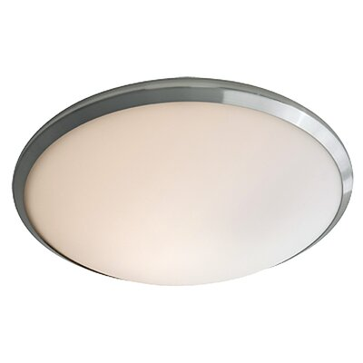 Essex 1-Light Flush Mount Finish: Buffed Nickel, Shade Color: Half Opal
