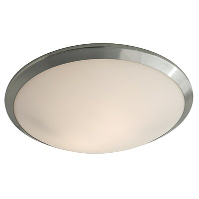 Essex 2-Light Flush Mount Shade Color: Half Opal, Finish: Oil Rubbed Bronze
