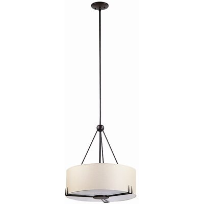 Geometry 3-Light Drum Pendant Finish: Mocha