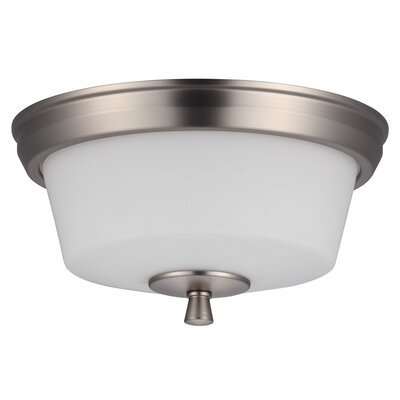 Georgetown 2-Light Flush Mount Finish: Buffed Nickel