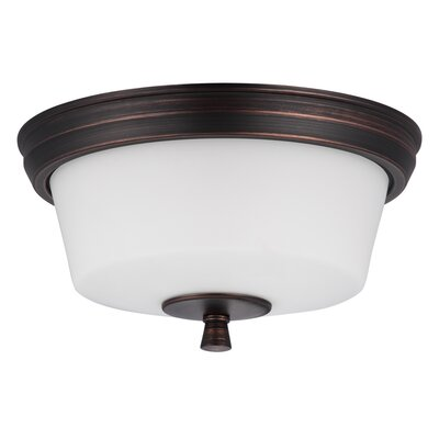 Georgetown 2-Light Flush Mount Finish: Oil Rubbed Bronze