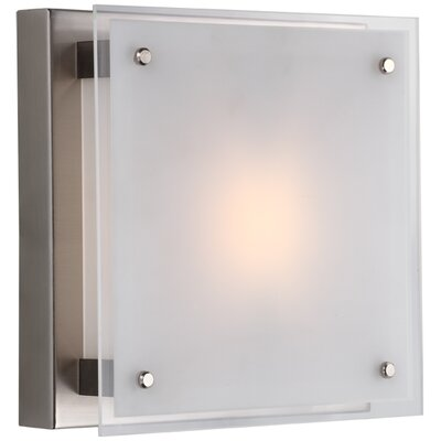 Helios 1-Light Flush Mount Size: 10, Finish: Buffed Nickel