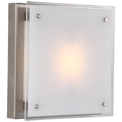 Helios 1-Light Flush Mount Size: 12, Finish: Chrome