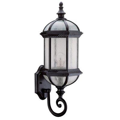 Hexagon 1-Light Outdoor Wall lantern Shade Type: Seedy