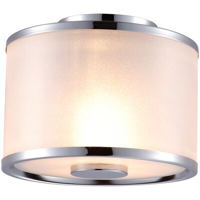 Milan 2-Light Flush Mount Finish: Chrome