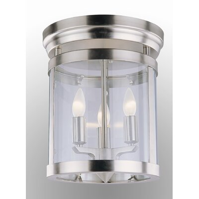 Niagara 3-Light Flush Mount Finish: Chrome