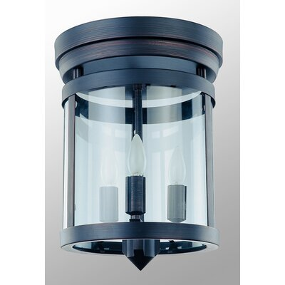 Niagara 3-Light Flush Mount Finish: Oil Rubbed Bronze