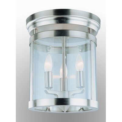 Niagara 3-Light Flush Mount Finish: Satin Nickel
