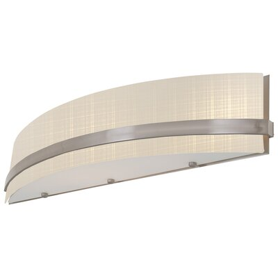 Solstice 1-Light Flush Mount Finish: Satin Nickel with Half Opal Glass, Size: 16