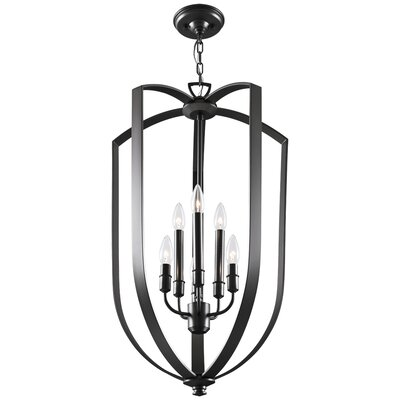 Castille 6-Light Foyer Pendant Finish: Ebony
