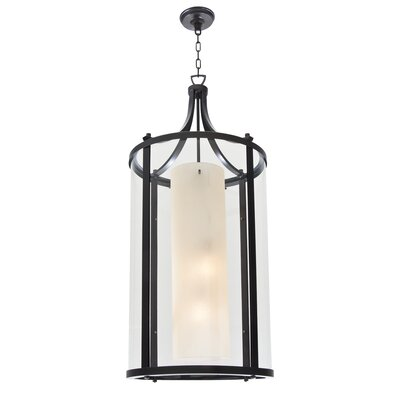Essex 4-Light Foyer Pendant Finish: Oil Rubbed Bronze, Shade Color: Butterscotch