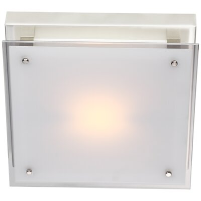 Helios 1-Light Flush Mount Size: 12