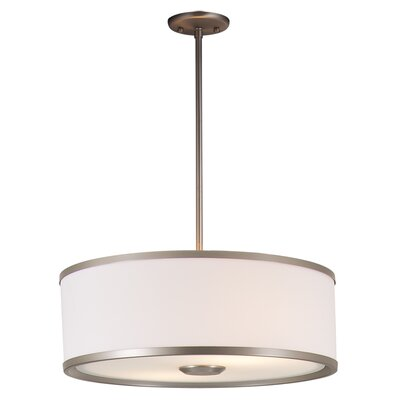 Milan 1-Light Drum Pendant Finish: Buffed Nickel with Sateen White Shade