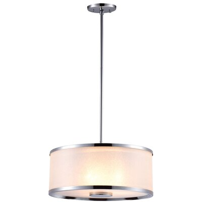 Milan 1-Light Drum Pendant Finish: Chrome with Stardust Shade