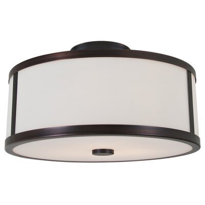 Uptown 3-Light Semi Flush Mount Finish: Oil Rubbed Bronze