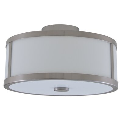 Uptown 3-Light Semi Flush Mount Finish: Satin Nickel