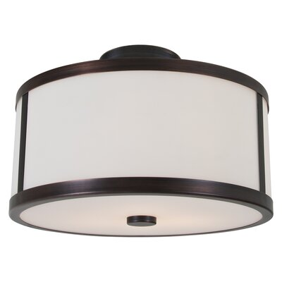 Uptown 2-Light Semi Flush Mount Finish: Oil Rubbed Bronze