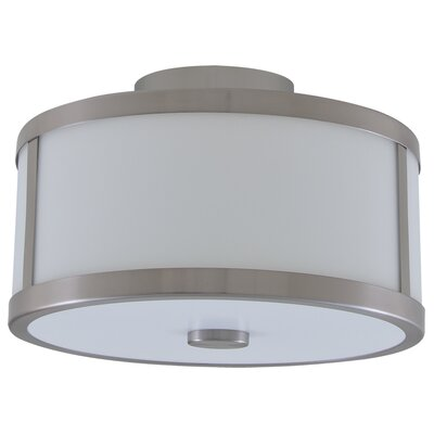 Uptown 2-Light Semi Flush Mount Finish: Satin Nickel