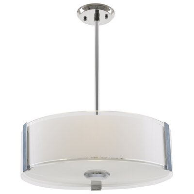Zurich 3-Light Drum Pendant Finish: Satin Nickel