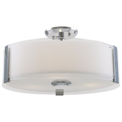 Zurich 3-Light Semi Flush Mount Finish: Chrome