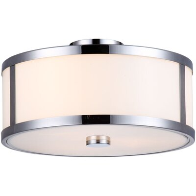 Uptown 3-Light Semi Flush Mount Finish: Chrome
