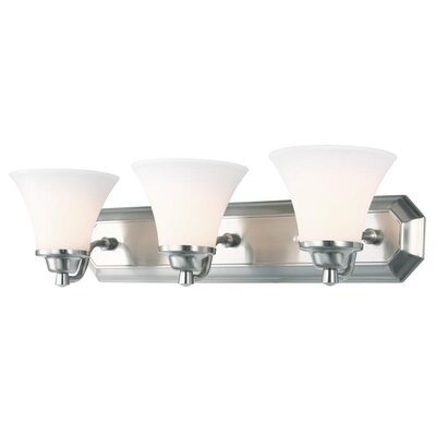 Valletta 3-Light Vanity Light Finish: Satin Nickel