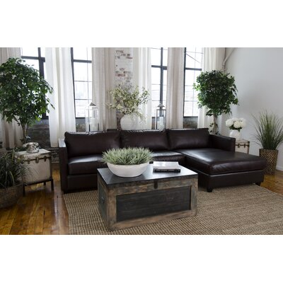 Urban Leather Sectional Orientation: Right Hand Facing