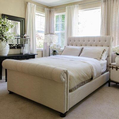 Upholstered Sleigh Bed Size: King