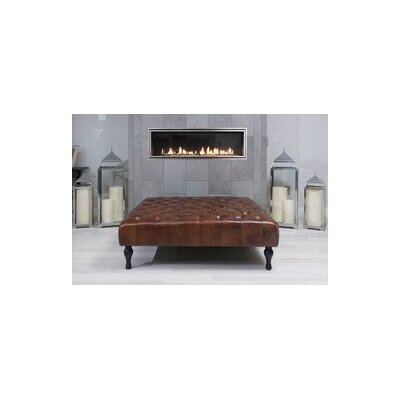 Warrington Cocktail Square Leather Ottoman