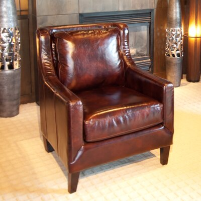Java Top Grain Leather Armchair
