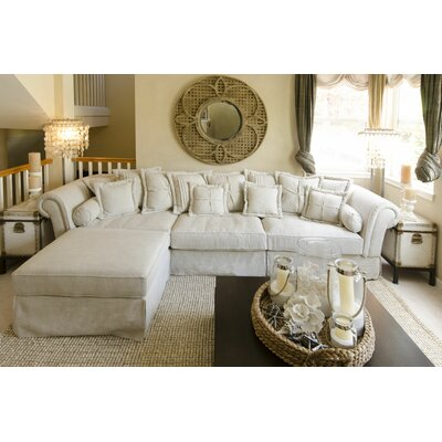 Bella Reversible Sectional with Ottoman