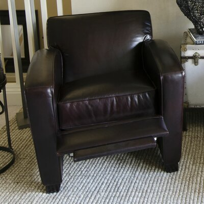 Brady Leather Manual Recliner